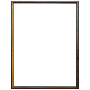 Aria Frame 36X48 Black and Gold