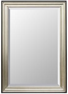 Contemporary Silver Black Frame 30X30