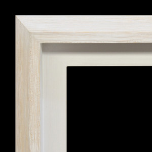 Modern Float Frame Only 30x40 White Wash