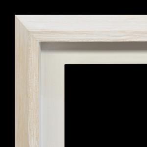 Modern Float Frame Only 36x36 White Wash