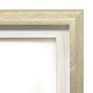 Modern Float Frame Only 36x36 Silver Wash