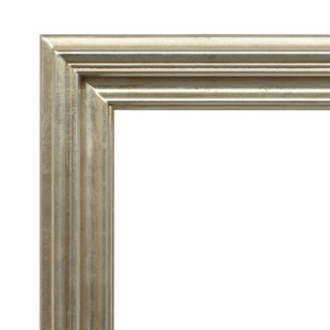 Open Woods Frame 12x24 Silver Finish