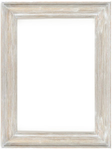 MIsty Woods Frame 24x36 Distressed White Wash