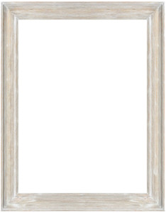 MIsty Woods Frame 36x48 Distressed White Wash