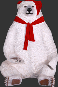 Sitting Christmas Bear Jumbo