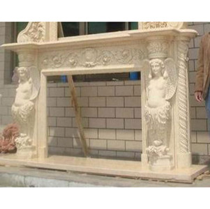 Exotic Egyptain Bge Marble Mantel
