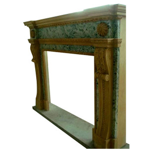 Green/Beige Mantel (35x35)