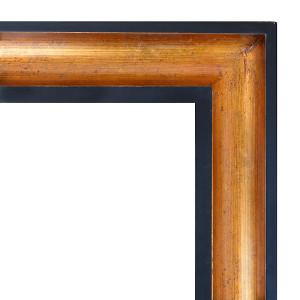 Wood Scoop Frame Gold 12X24
