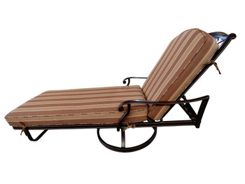 Brentwood Swivel Chaise Lounge Outdoor