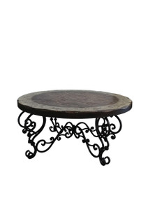 Peruvian Iron Round Cocktail Table