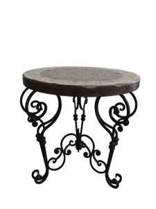 Peruvian Iron Round Side Table
