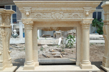 Egypt Yellow Marble Mantel