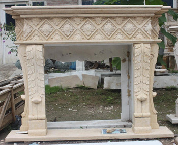 Egypt Beige Marble Mantle