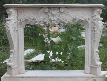 Italy Beige Marble Mantle