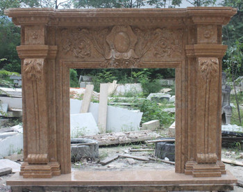 Henan Yellow Marble Mantle