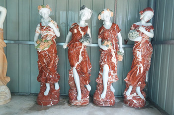 Four Season Marble Statues Ge18579
