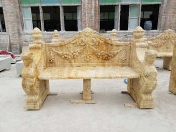 Travertine Marble Bench GE18321