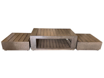 Modern Rustic Outdoor Table Set of 3