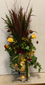 Crinkled Gold Arrangement