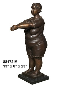 Swimming Fat Lady And Marble Base