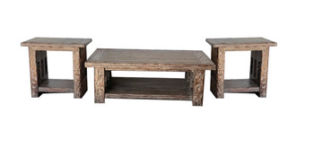 Railroad Cocktail Table Set of 3