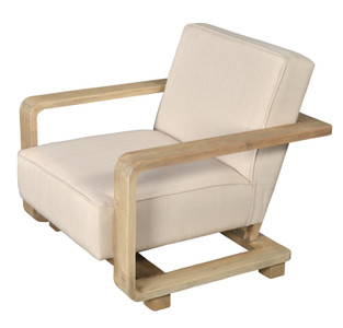 Mid Century Modern Rustic Fireside Chair
