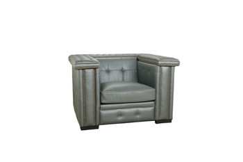 Micro Leather Grey Bench Chair