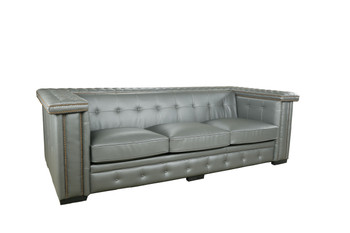 Micro Leather Gray Bench Sofa