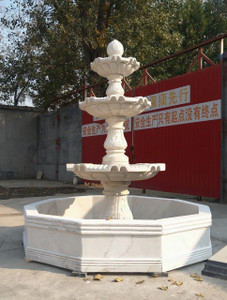 Three Tear White Marble Fountain GR18492