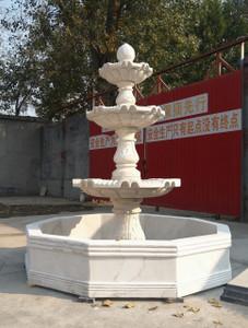 Three Tear White Marble Fountain GR18492