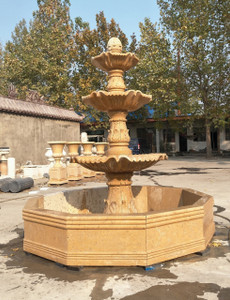 Three Tear Yellon Marble Fountain GR18495