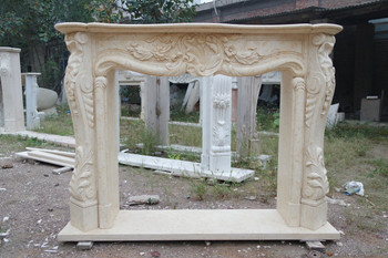 Egypt Yellon Marble Mantel GE18896