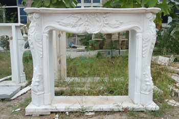 White Marble Mantel GE18897