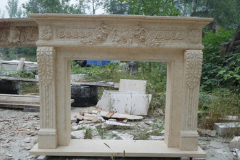 Egyptian Yellow Marble Mantel GE18908