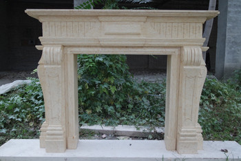 Egypt Yellon Marble Mantel GE18911