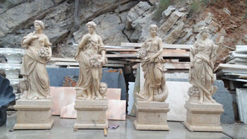 Four Seasons Beige Marble Statues