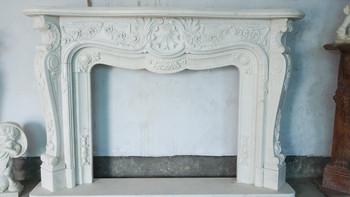White Marble Mantel Ge18402