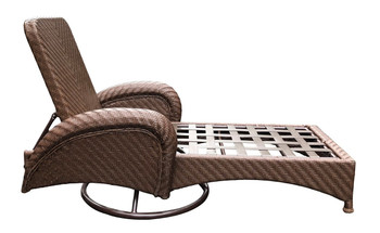 Villanova Woven Outdoor Swivel Chaise Lounge