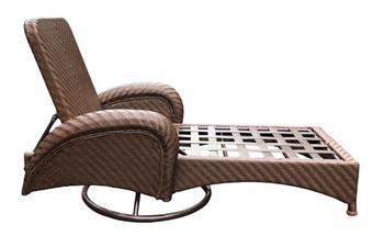 Villanova Woven Outdoor Swivel Chaise Lounge