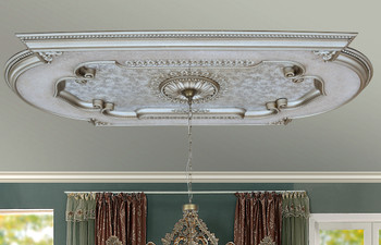Champagne Rectangular Chandelier Ceiling Medallion