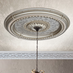 Champagne Round Ceiling Medallion 47 Inch