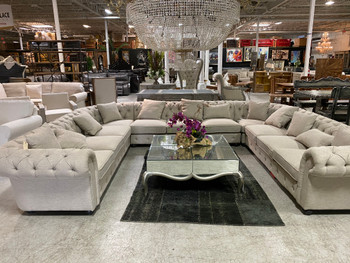 Paradigm 5 Pieces Ultimate U Sectional Gray Linen