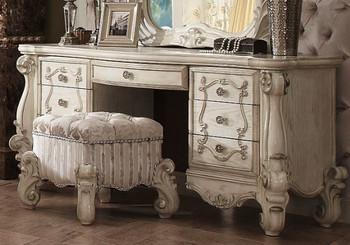 Versailles Vanity Desk in Bone White