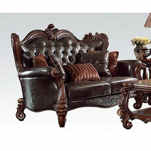 Lynchburg Chocolate Loveseat with Pillows