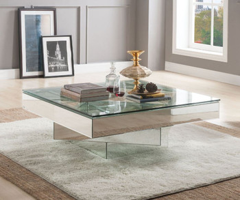 Meria Glam Mirrored Coffee Table