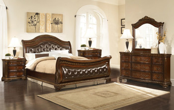 Arthur Eastern Upholstered King Bedroom Set of 5