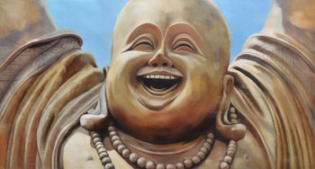 Laughter Buddha Monocolor Gallery Wrap