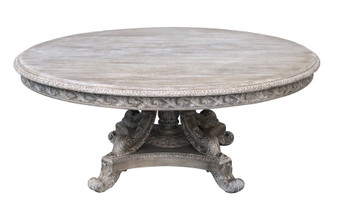 Mystique Gray Mahogany Anglia 72''Rd Dining Table