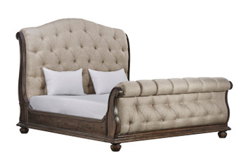 Vintage Salvage - 6/6 Lanza Uph Tufted Bed