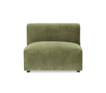 Bobby Berk Uph - Olafur Armless Chair - Moss Velvet